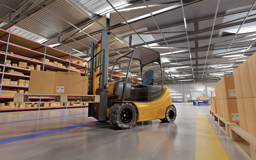forklifter in store